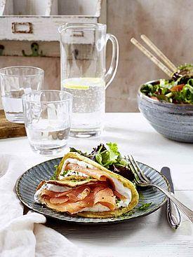 Kölln_Pfannkuchen mit Kräuterquark und Lachs