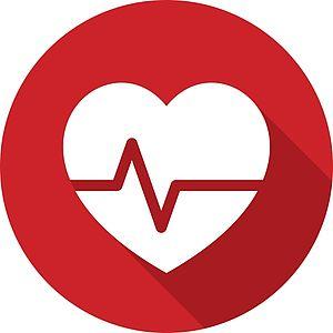 Rotes Blutdruckherz