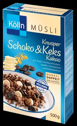 Kölln Müsli Knusper Schoko&Keks Kakao