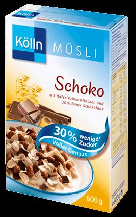 Kölln Müsli Schoko 30 % weniger Zucker