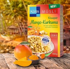 Mango-Kurkuma Müsli