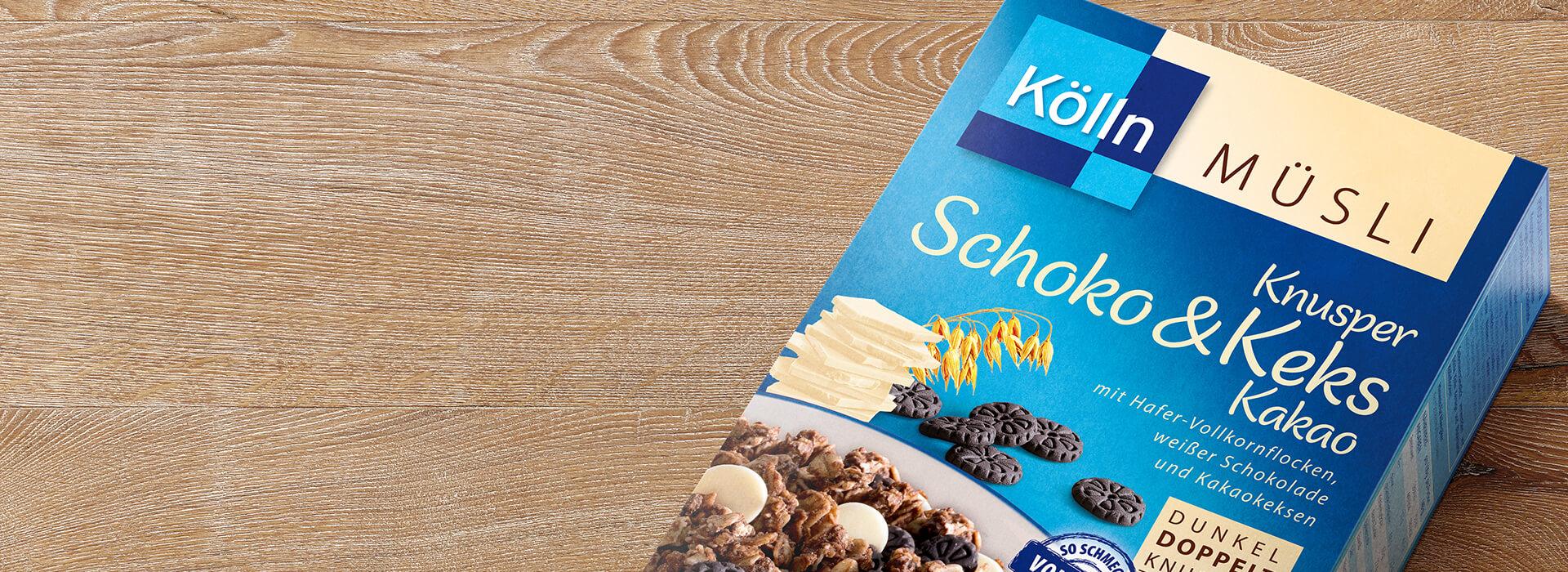 Knusper Müsli mit Schoko, Keks & Kakao
