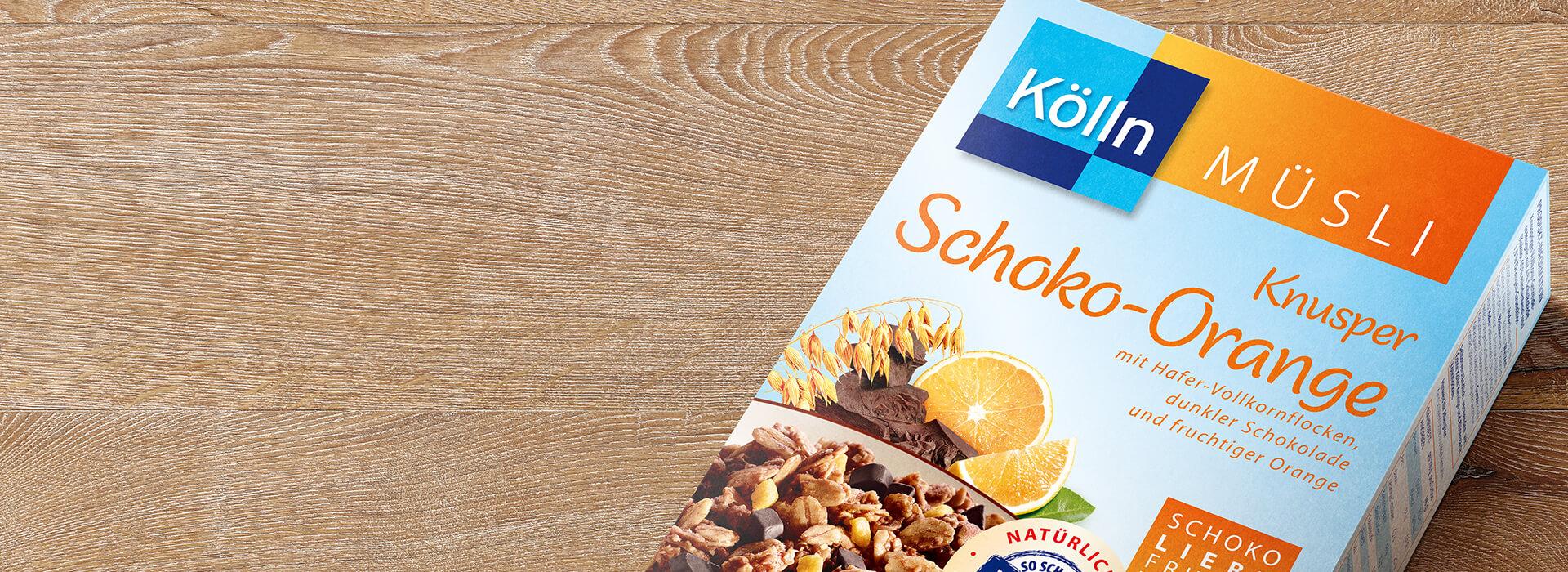 Knuspriges Schoko-Orange Müsli