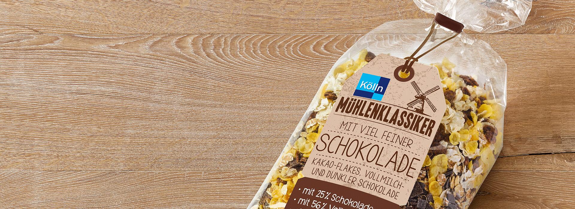 Müsli mit feiner Schokolade