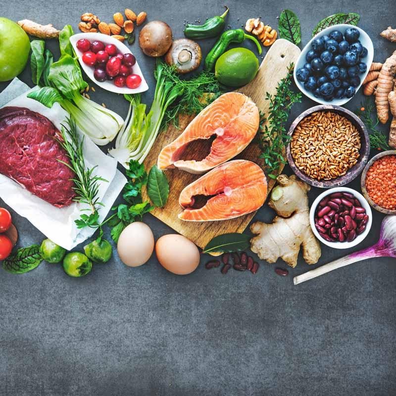 Mahlzeiten für die ausgewogene Ernährung
