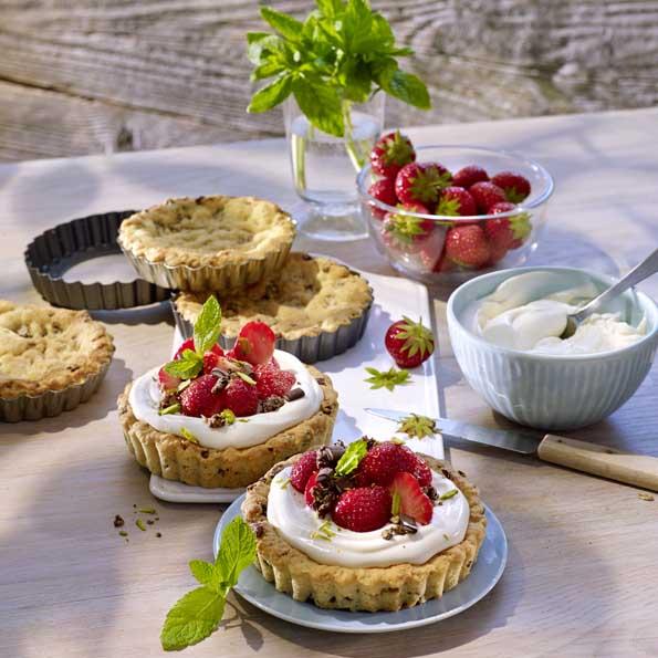 Erdbeer-Minz-Dessert