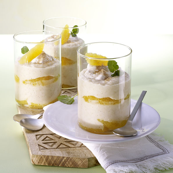 Quark-Porridge mit Zimt und Zucker