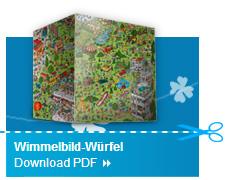 Wimmelbild Würfel Basteltipp 3